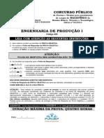 Fundep 2014 if Sp Professor Engenharia de Producao Gabarito