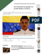 Alférez de Navío Se Declaró en Rebeldía Contra Nicolás Maduro