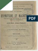 Filatre Cours Completes Hypnotisme Et Magnetisme