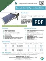 EVP Calentador Solar - Ficha - Tecnica