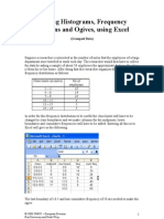 Making Histograms, Frequency Polygons and Ogives, Using Excel