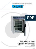 HIGH-HEAT DECONTAMINATION CO2 INCUBATOR SCO6AD Previously Designated 3552 - Installation and Operation Manual