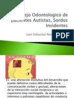 Manejo ontológico de pacientes sordos autistas invidentes