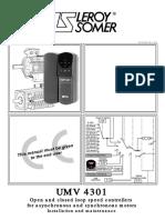 Manual de variador Leroy Somer UMV 4301