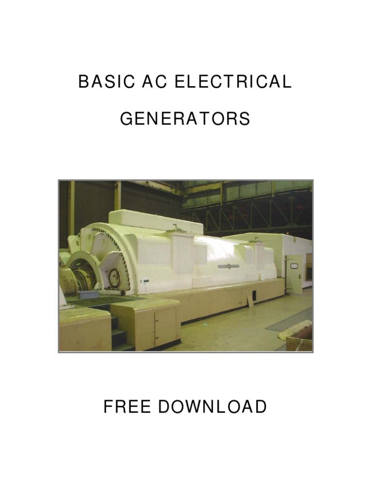 Basics Of Ac Electrical Generatorspdf Generators