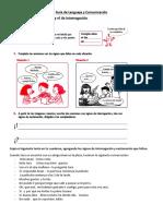 Guía de Lenguaje y Comunicación - Exclamación e Interrogación