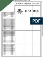 Chart Decimal Percent Fraction 1