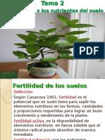 TEMA 2 Curso de Conservacion de Suelos - Nutrientes de Las Plantas