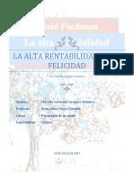 Resumen La Rentabilidad de La Felicidad Por Fiorella Vasquez