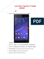 Hard Reset Sony Xperia C3 Dual D2502