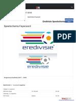 Speelschema Feyenoord 2017 2018