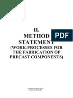 Method of Statements - Precast Wall