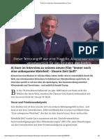 Al Gore im Interview - Klimawandel fuehrt zu Terror