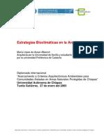 López - Estrategias Bioclimáticas en La Arquitectura