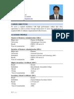 Mostafiz Résumé