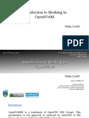 PhilipCardiff UCD Geometry,Meshing in OpenFOAM | Vertex