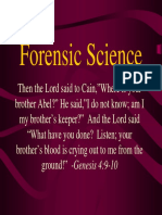 Forensic Science Intro