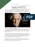 The Dangers Odf Satndarized Testing Noam Chomsky