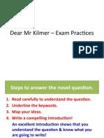Dear Mr Kilmer – Exam Practices