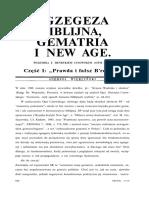 """Andrzej Wierciński """"Egzegeza biblijna, gematria i New Age"""""""