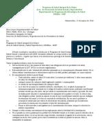 Ligadura Tubaria y Vasectomia. Comunicado Cuerpo Medico 2016
