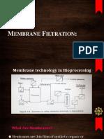 Membrane Filtration techniques