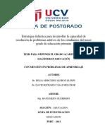 Proyecto estrategia didactica y resolucion problemas