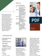 intranasal anesthetic spray brochure