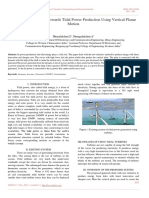 An Efficient Approach towards Tidal Power Production Using Vertical Planar Motion