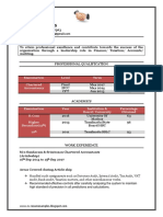 Fresher Chartered Accountant Resume Sample Doc