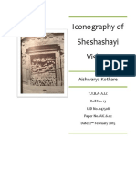 Iconography Sheshasayi Vishnu