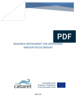 Research Instrument for Interviews or Focus Groups - Final