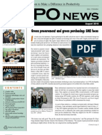 Asian Productivity Organization Monthly Newsletter August 2010