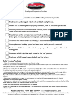 Towing checklist