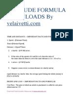 Aptitude Formulas by www.velaivetti.com