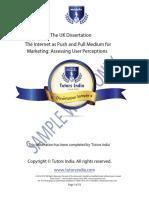 Masters Dissertation Full Sample Work   Tutors India
