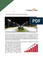 Procurement into solar street lighting, Government Tenders | TendersInfo.