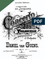 Goens, Daniel Van - Cello Concerto No.1 in a Minor, Op.7 (Pf and Cello Score)