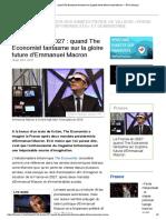 La France en 2027 _ quand The Economist fantasme sur la gloire future d'Emmanuel Macron — RT en français
