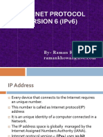 IPv6 Brief Intro by Raman Kumar