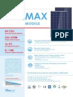 Trina Solar Allmax Multicrustalline 60cell 255W 270W Datasheet India