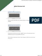 Create a highlighted chrome text.pdf