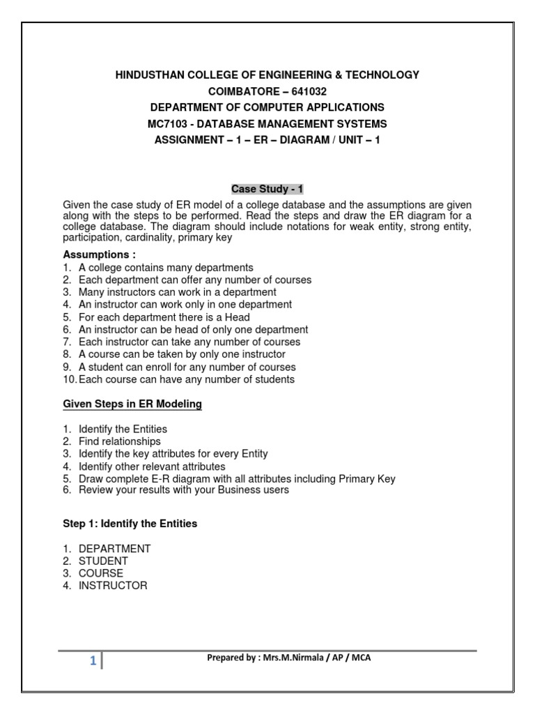 Assign1 er diagram 2 databases information technology management pooptronica
