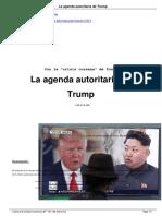 La Agenda Autoritaria de Trump