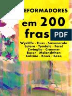 Reformadores Protestantes Em 200 Frases