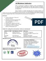 Soil Moisture Indicator Flyer
