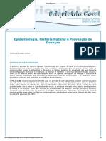 Epidemiologia, História Natural e Prevenção de Doenças 2