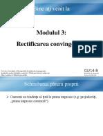 3. Modul Romanian B - Restructurarea convingerilor