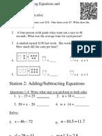 6-18 Stations Equations Qr