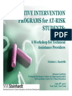 Developing Supportive Intervention Programs Student